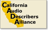 california audio describers alliance banner and link